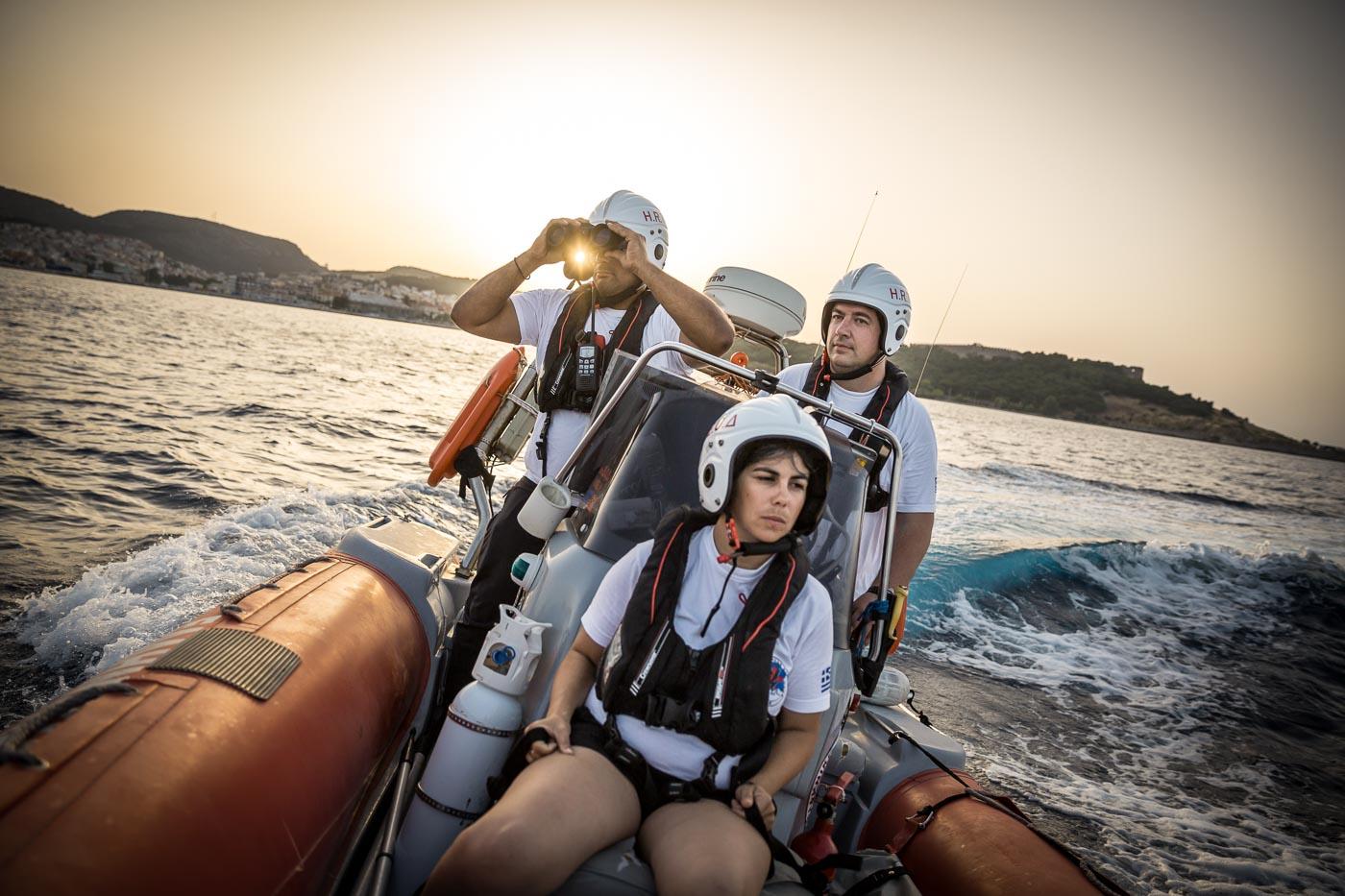 Greece. Winners of UNHCR's Nansen Award 2016, Efi Latsoudi and Konstantinos Mitragas